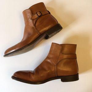 FRATELLI ROSSETTI Cognac Strap Ankle Boot Sz.9